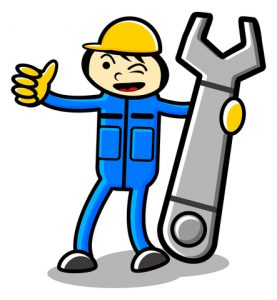 maintenance technician happy with cmms software