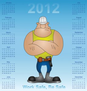 maintenance worker with maintenance calendar